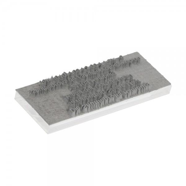Textplatte für Trodat Vienna 9012 (54x14 mm - 5 Zeilen)