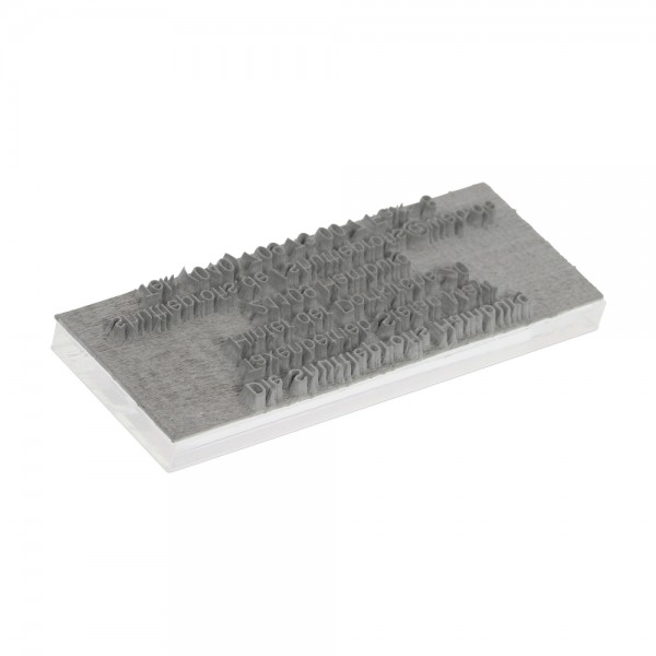 Textplatte für Trodat Pocket Printy 9511 (38x14 mm - 4 Zeilen)